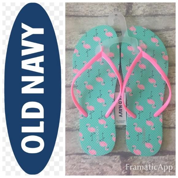 05212004111103 🆕Cute Old Navy Flamingo Flip Flops